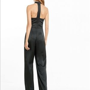 Black express choker jumpsuit NWT